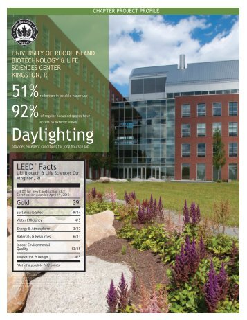 chapter project profile - University of Rhode Island