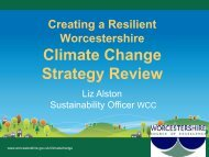 Climate Change Strategy Review - Worcestershire Partnership