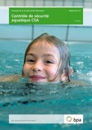 Contrôle de sécurité aquatique CSA – Safety Tool No 3 - BfU
