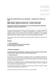 Profil de qualification pour employée / employé de commerce CFC