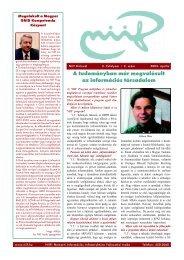 A tudományban már megvalósult az információs társadalom - Niif