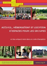 accueil, hébergement et location d'espaces pour les groupes