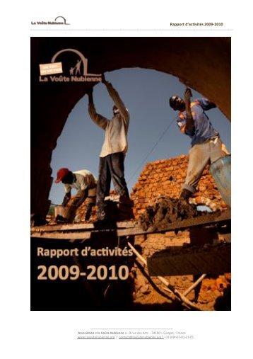 Rapport d'activités 2009-2010 - Voûte nubienne - Association la ...