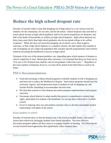 High School Dropout Rates Up Are Math And Science The Cause Essay Essay On High  School