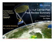 3. Cal/Val Peer-Review Summary - SMAP