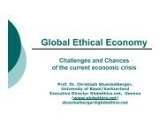 Global Ethical Economy Challenges and Chances of the current ...
