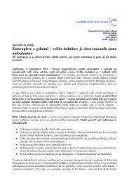 Previdno pri nabiranju gob - Univerzitetni Klinični Center Ljubljana