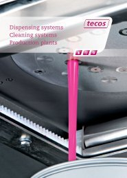 Dispensing systems Cleaning systems Production ... - Manich-Ylla, SA
