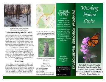 Brochure 1 - Weinberg Nature Center