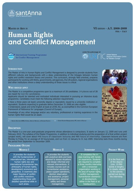 Human Rights and Conflict Management