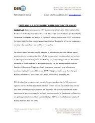 DIRTT WINS U.S. GOVERNMENT GREEN CONTRACTOR AWARD
