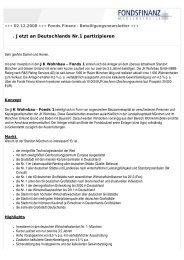 Newsletter 02.12.2008 - Fonds Finanz Maklerservice GmbH