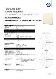 huber+suhner® planar antenna for wireless communication