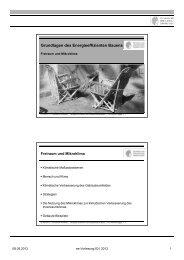 Grundlagen des Energieeffizienten Bauens - Entwerfen und ...