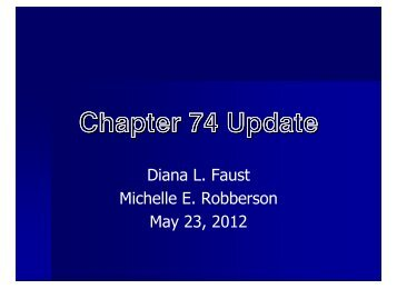 chapter 74 update (2.. - Cooper & Scully, PC