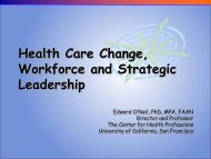 Workforce Challenges in a Reformed Health Care System