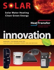 Solar Water Heating Clean Green Energy - Thermal Products Inc