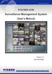 PiXORD 6100 Surveillance Management System User's Manual