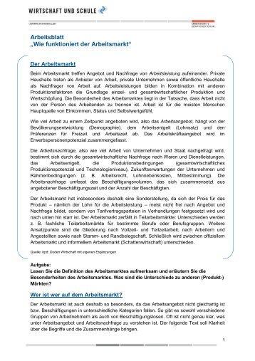 """Arbeitsblatt """"Das Müll-Dilemma"""" - Wirtschaft und Schule"""