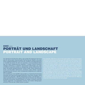 PORTRÄT UND LANDSCHAFT PORTRAIT AND LANDSCAPE