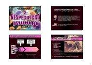 imunita - katedra zoologie