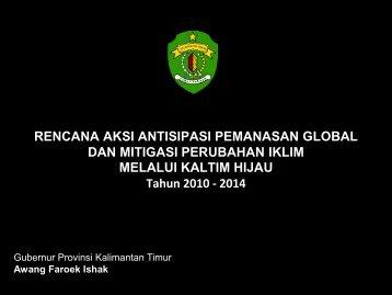 Rencana Aksi Antisipasi Pemanasan Global dan Mitigasi ... - GCF