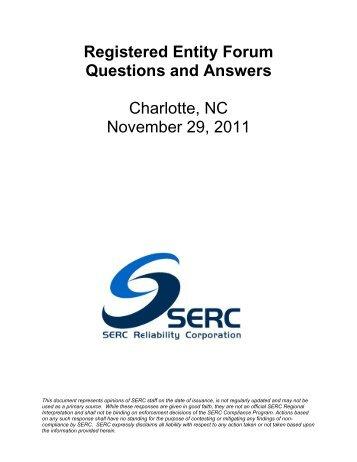 REF Q&A - Charlotte - November 2011.pdf - SERC Home Page