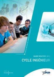 CYCLE INGÉNIEUR - INSA de Lyon