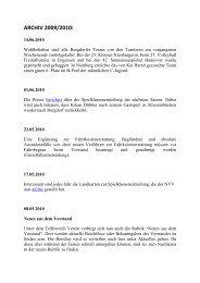 Archiv 2009 2010 - TSV Burgdorf – Volleyball