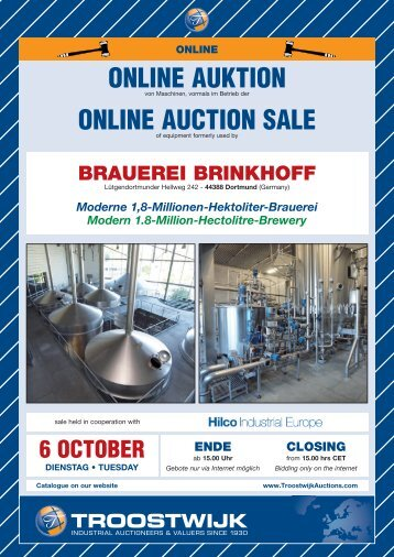ONLINE AUKTION ONLINE AUCTION SALE - Hilco Industrial