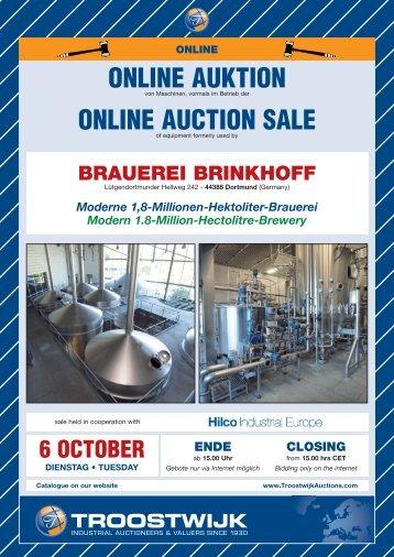 ONLINE AUKTION ONLINE AUCTION SALE - Hilco Industrial
