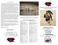 "Princeton Posse Junior Hockey Club ""Winning ... - esportsdesk.com"