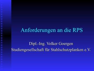 Anforderungen an die RPS - Pass+Co
