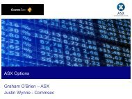 Introduction to ASX Options - CommSec