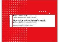 Bachelor in Medizininformatik - BFH-TI - Berner Fachhochschule