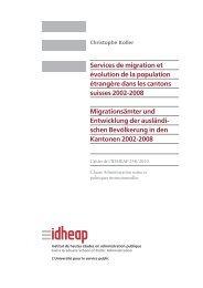 Services de migration et évolution de la population ... - Badac