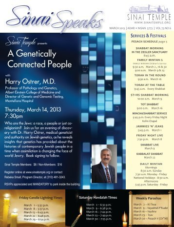 A Genetically Connected People - Sinai Temple