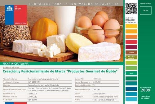 """Creación y Posicionamiento de Marca """"Productos Gourmet de ... - Fia"""
