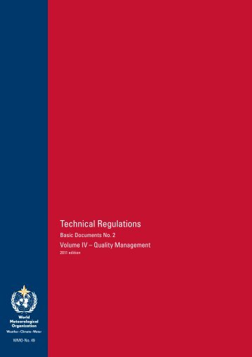 Technical Regulations - E-Library - WMO