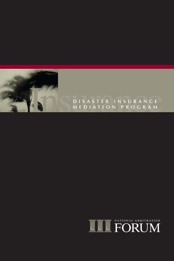 disaster insurance mediation program - National Arbitration Forum