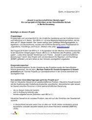Workshop Bericht (PDF) - Berliner Institut für Soziale Kompetenz ...