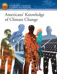 Americans' Knowledge of Climate Change - National Ocean Service ...