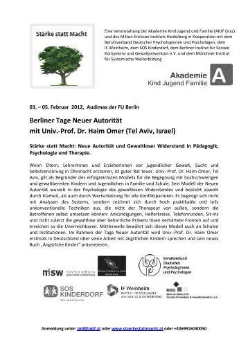 Programm (PDF) - Berliner Institut für Soziale Kompetenz und ...