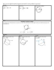 I can use angles formed by tangents and chords to solve problems in