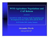 WTO Agriculture Negotiations and CAP Reform - ILEAP