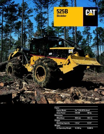 Specalog for 525B Skidder - Kelly Tractor