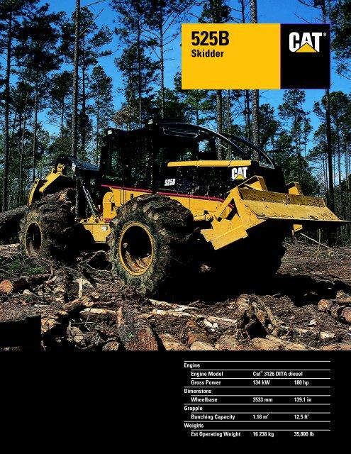 Specalog for 525B Skidder - Kelly Tractor