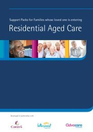 Full PDF - Support Pack for Families Whose Love Ones Enters Residential Aged Care
