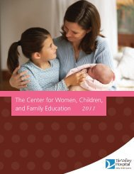 The Center for Women, Children, and Family ... - Valley Hospital