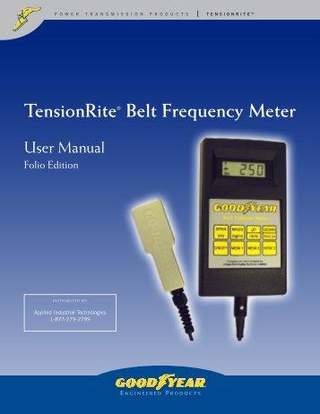 TensionRite® Belt Frequency Meter - Applied Industrial Technologies